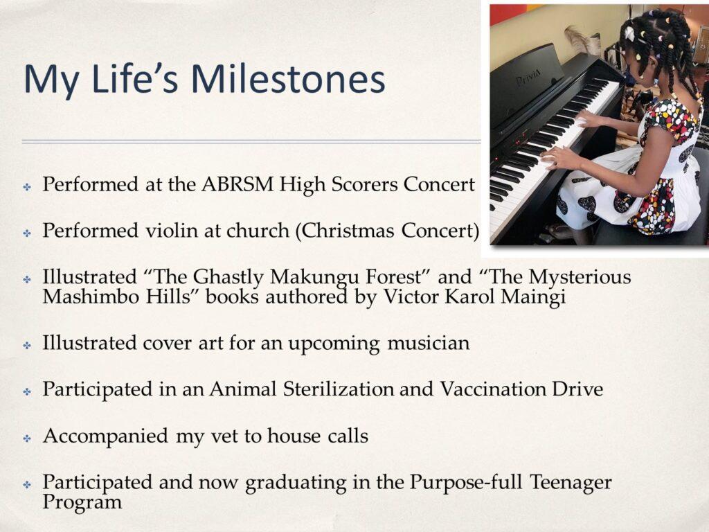 My Life's Milestones
